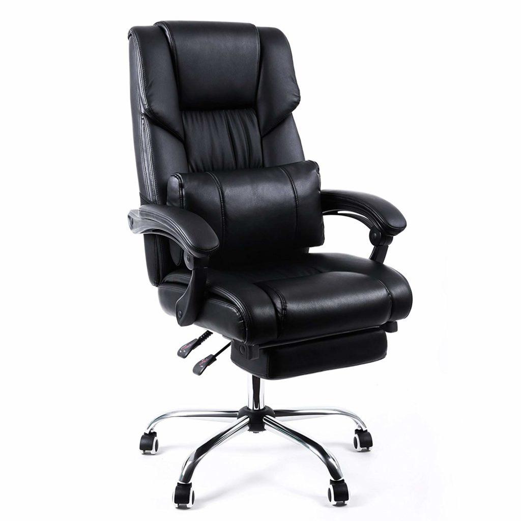 Chaise de bureau OBG71B de Songmics avec repose-pieds