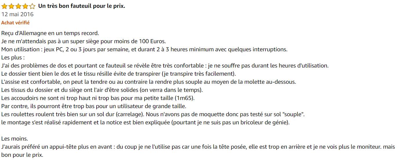 Fauteuil Duhome à Bascule 0391 - Avis clients